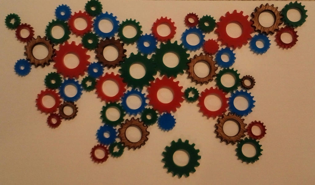 Plastic and wood gears by JasonYoungdale