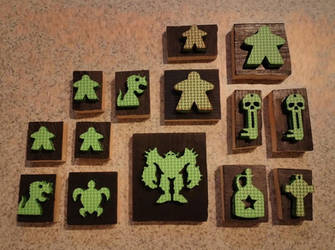 Stamps that I laser cut out of foam