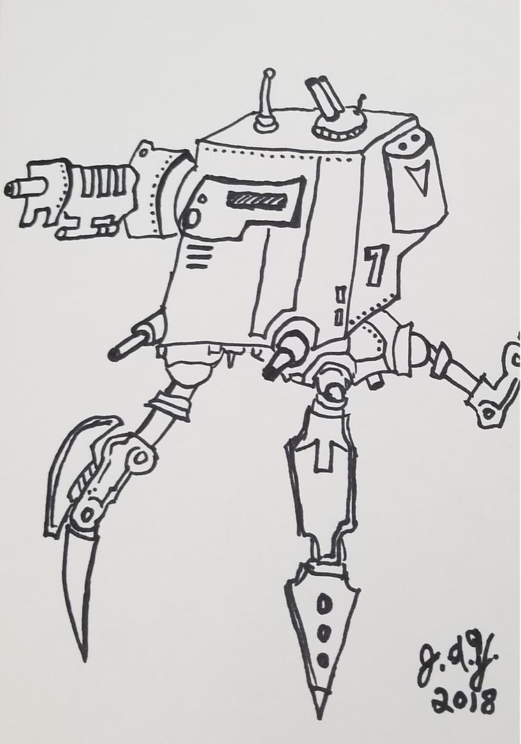 Robot Tripod Crawler by JasonYoungdale