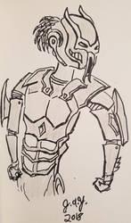 Robot Dreadball player by JasonYoungdale