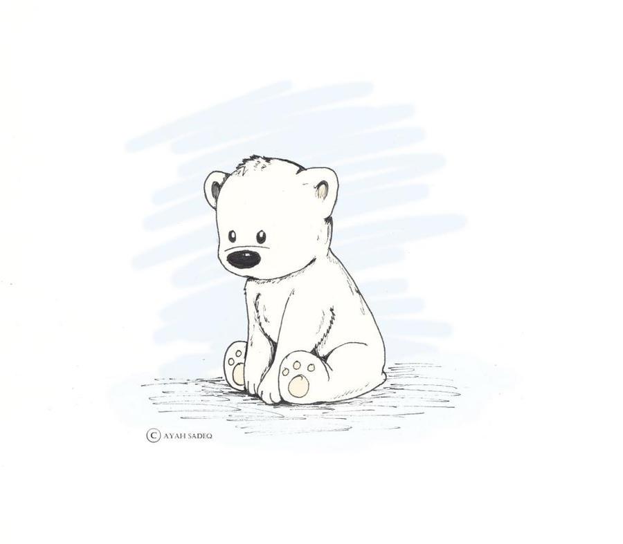 Cute polar bear drawings - photo#1