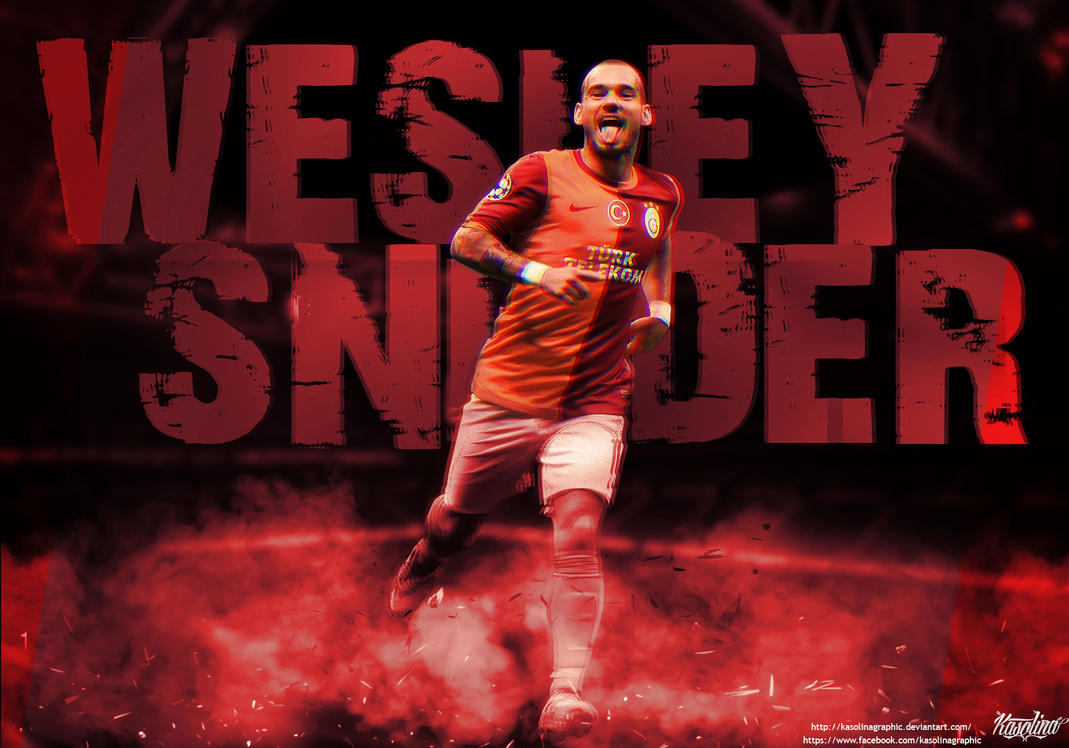 Wesley Sneijder Wallpaper by KasolinaGraphic