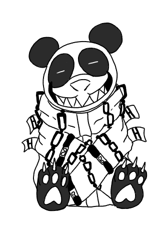 Panda In A Straight Jacket Tattoo Design By CHANELGoo On