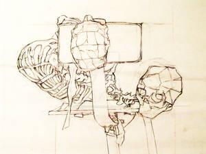Drawing 1 - Skeleton Chair