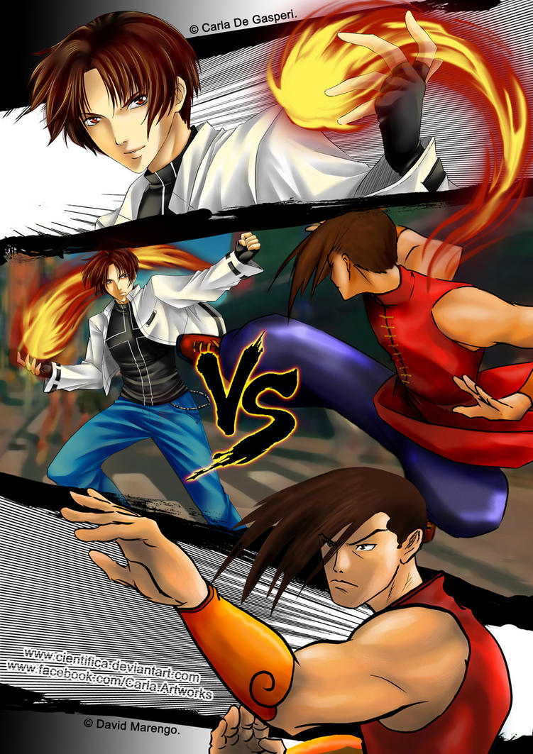 KOF vs SF - Kyo x Yang by Cientifica