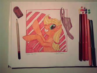 Silly pony (with crappy markers) by 2edFlames