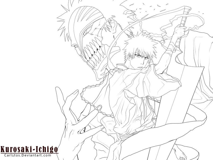 kurosaki Ichigo -Lineart- by carl1tos on DeviantArt