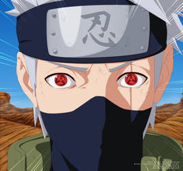 Naruto 688 - Kakashi de el Sharingan by carl1tos