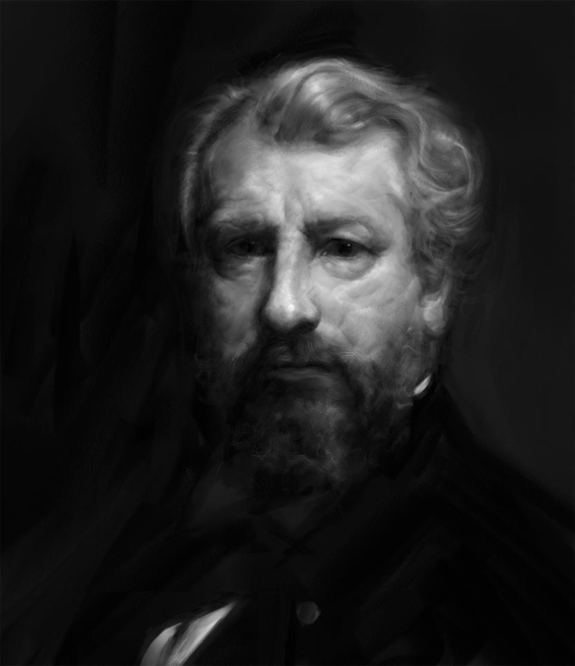 William Adolphe Bouguereau - Self Portrait Study by Surfsideaaron