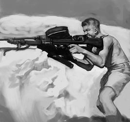 Kiwi gunner North Africa study