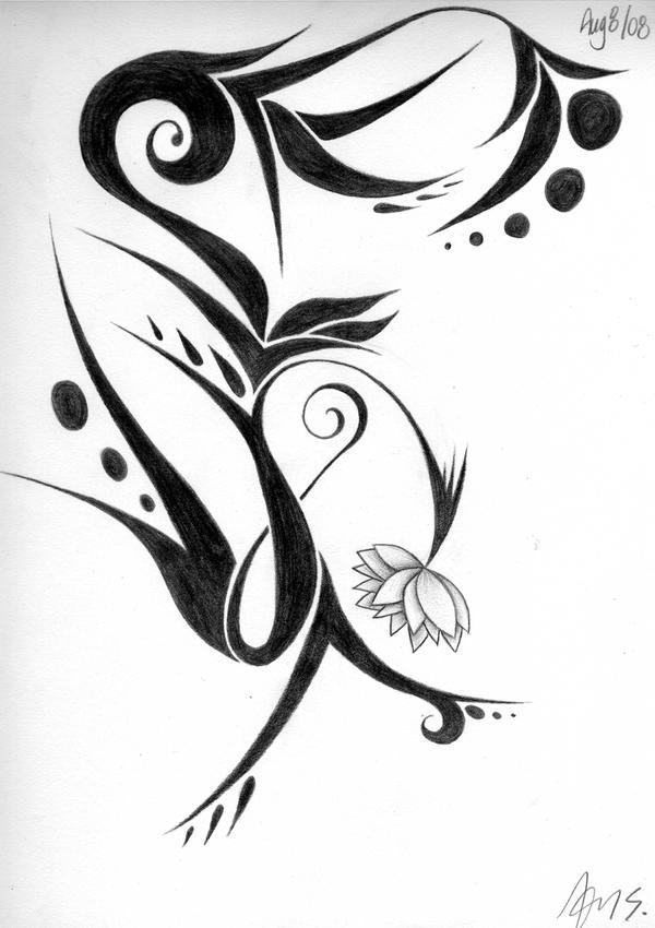 Floral-Tribal 3 by tAnGeRiNeGuItArPiCk