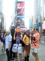 TWEWY in Times Square by AuroraCelsius