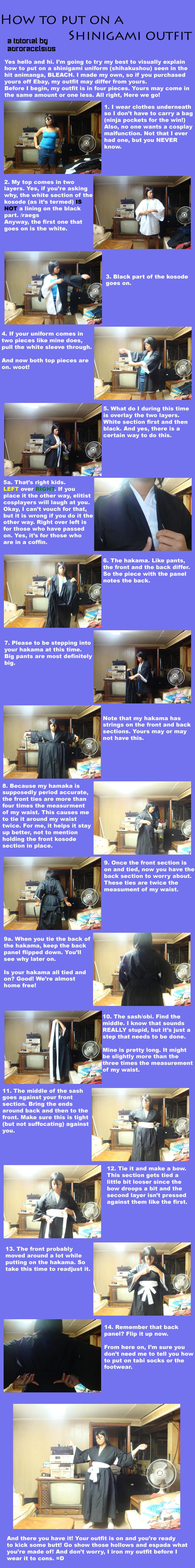 How to put on a shihakushou