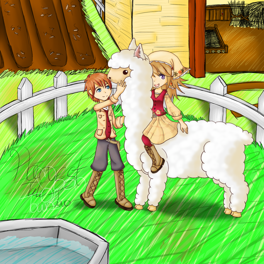 Harvest Moon - Tale of Two Towns by mantoux3