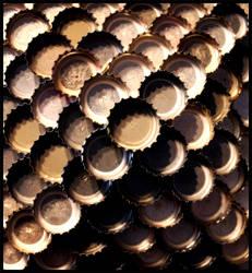 Pyramid In Bottle Caps by DiSleXik2501