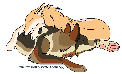 Gabs and Collin: Wolfie Cuddles by Time-Dancer