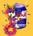 I LOVE IT RED BULL [YCH3] by PandiUnicorneo