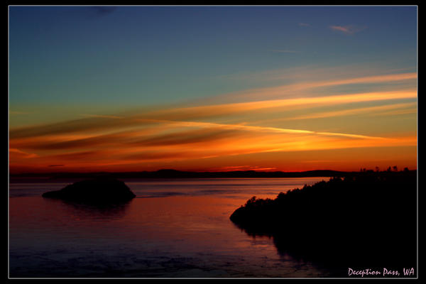 Deception Pass Rainbow Sunset by indigohippie