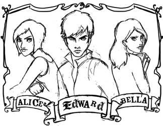 Twilight Sketches by SwissDutchess