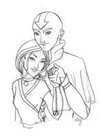 Aang and Katara Older by SwissDutchess