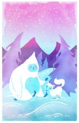 Yeti and Fox Friend