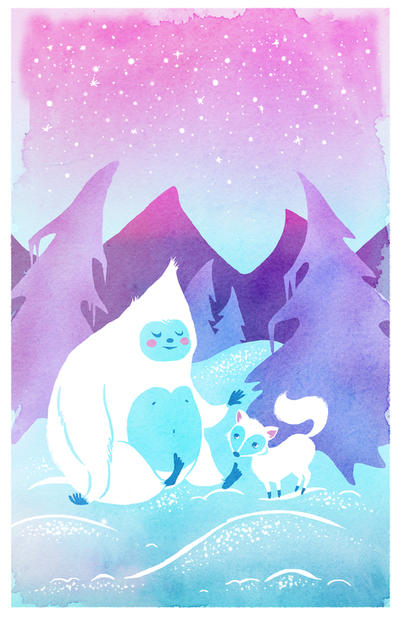Yeti and Fox Friend by SwissDutchess