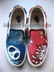Jack and Cheshire Cat Vans by SwissDutchess
