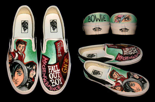 Band Themed Vans Shoes
