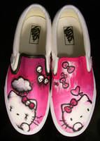 Hello Kitty Vans by SwissDutchess