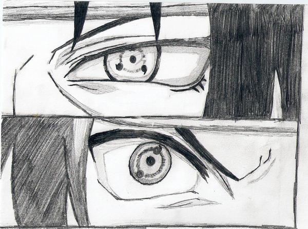 Itachi and Sasuke - Sharingan by kirby1205 on DeviantArt