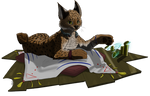 Commission - RarySnowLion - Lynx Marketer