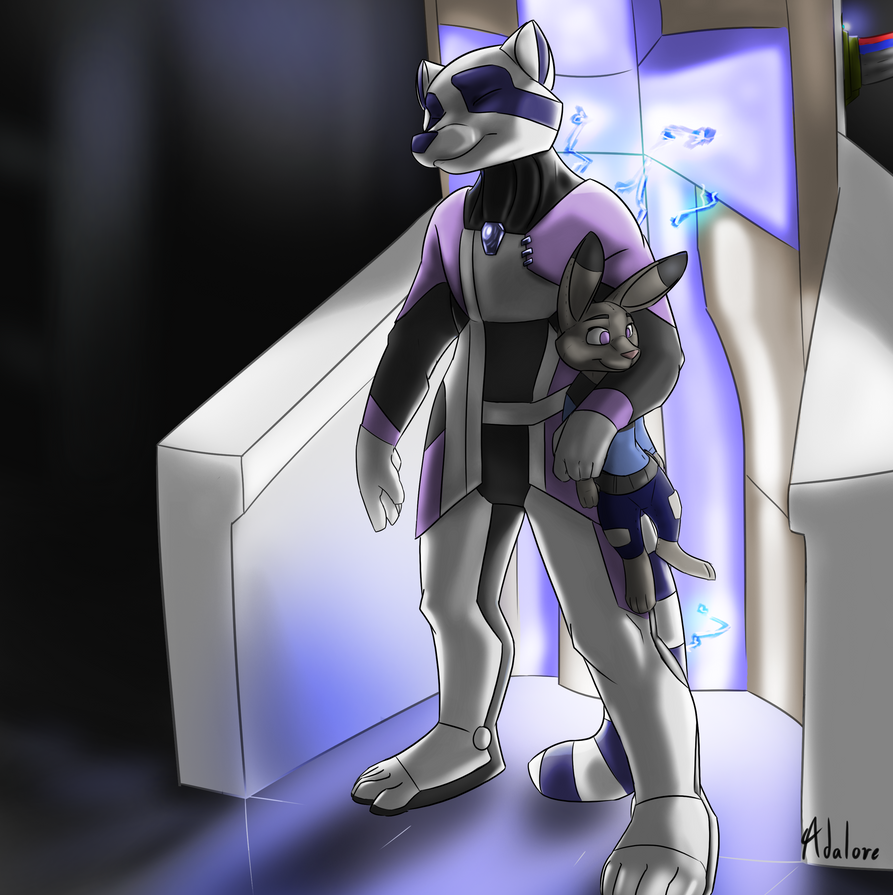 Commission - Stardustfur - Charging station by Adalore