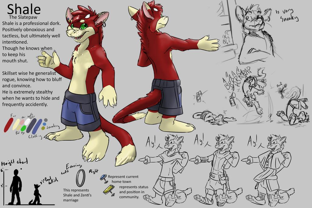 Shale - Character Reference by Adalore