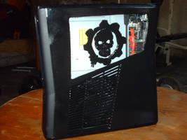 Custom Xbox 360 Slim GoW