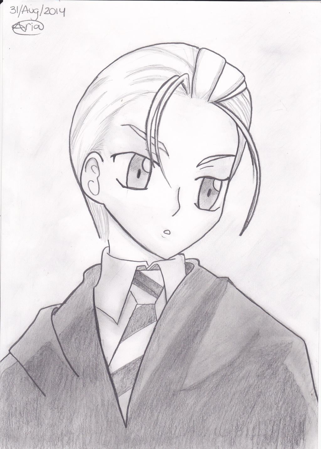 Draco Malfoy Manga Style by Sailor-Aria on DeviantArt
