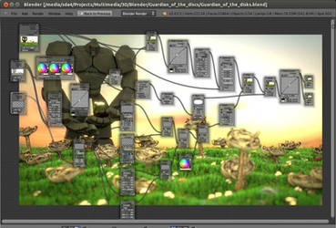 Guardian of the Disks - Compositing