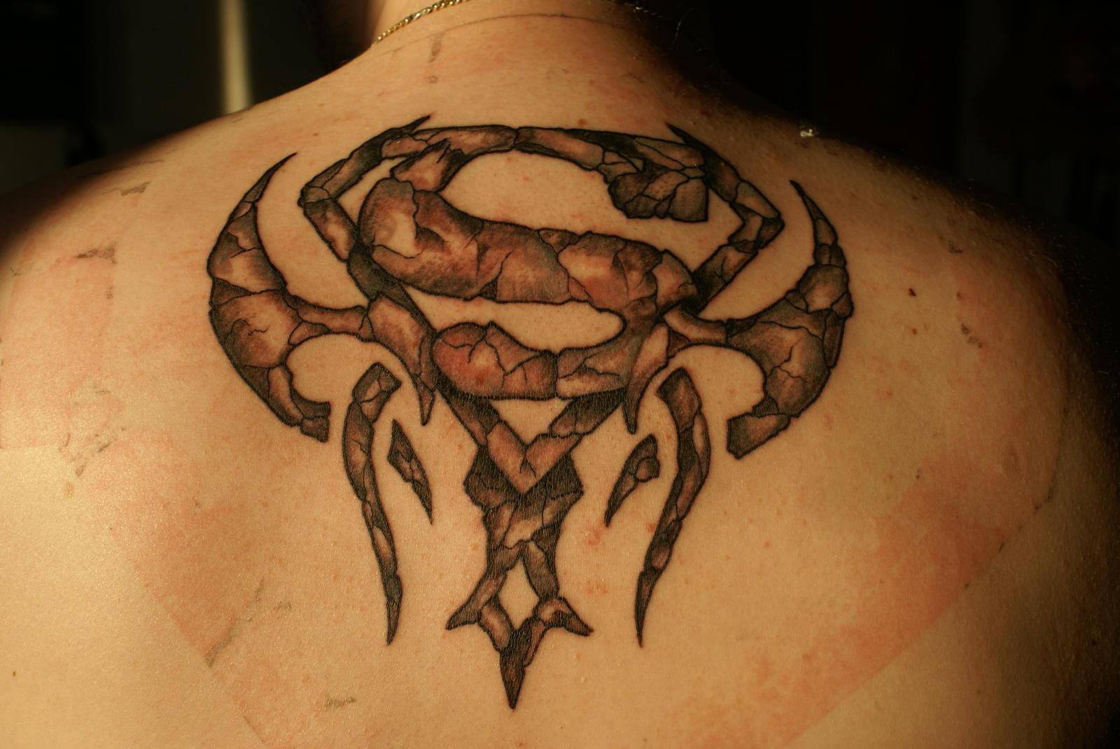 my superman tattoo by tredje on deviantart. Black Bedroom Furniture Sets. Home Design Ideas