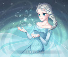 Fanart Frozen : Elsa by nayumi-green