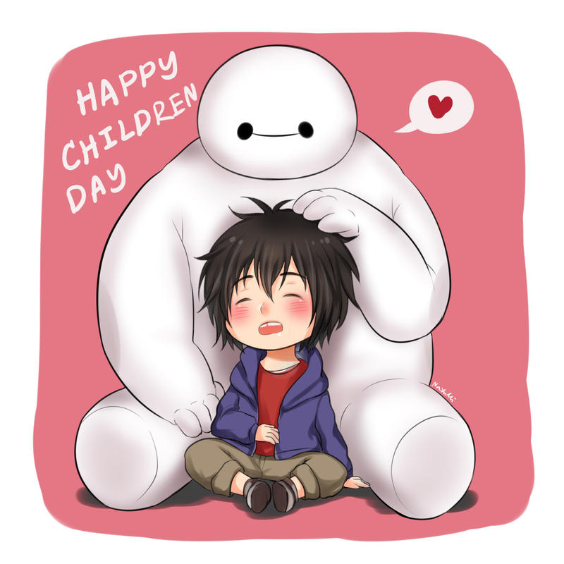 i'll try to picture me without you but i can't. ( baymax ) ♡ Happy_children_s_day_by_nayumi_green-d8dbj4v