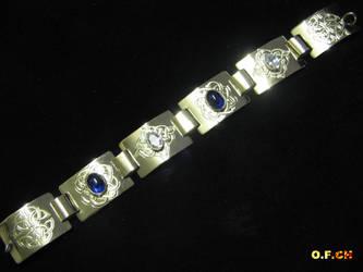 Bracelet with Kelt symbols by OFCH