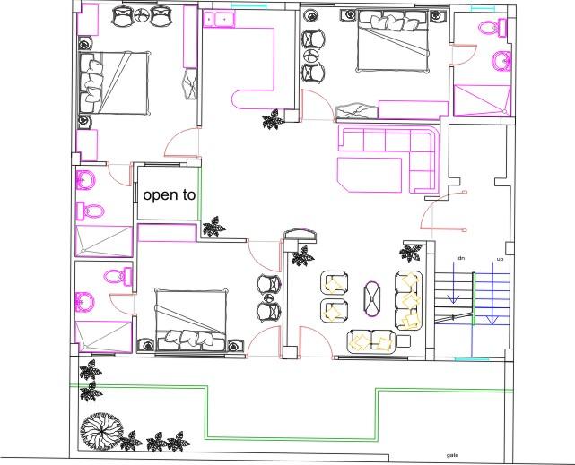 Autocad floor plan by prabhjotsingh333 on deviantart for Floor plans in autocad