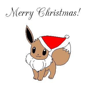merry christmas eevee by marowakmaniac14 on DeviantArt