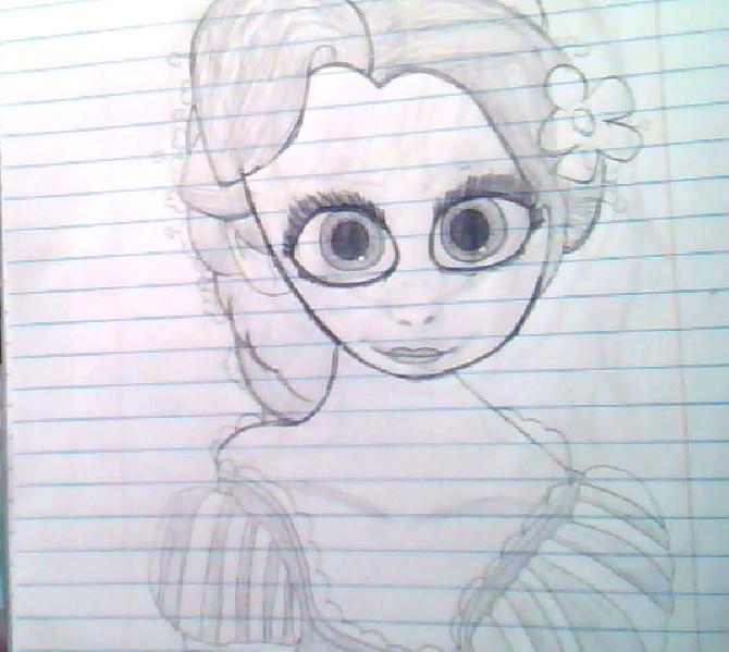 Rapunzel sketch ~ by VioLover7