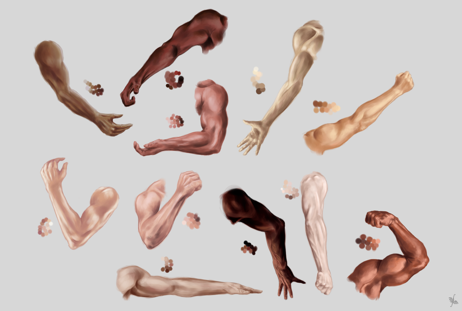 Male arm, hand and skin color STUDY by LadyAway