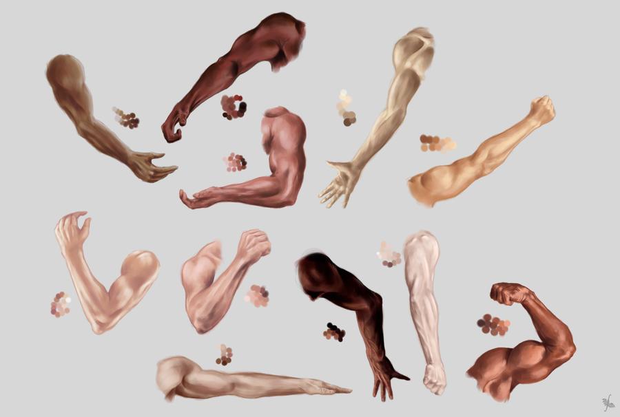 Male arm, hand and skin color STUDY by MonikaZagrobelna