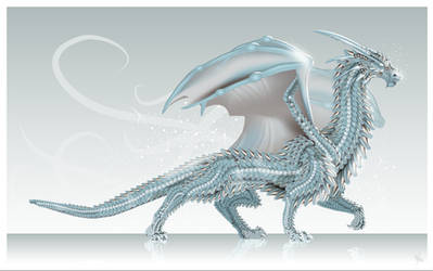 Ice Dragon + scales tutorial by MonikaZagrobelna