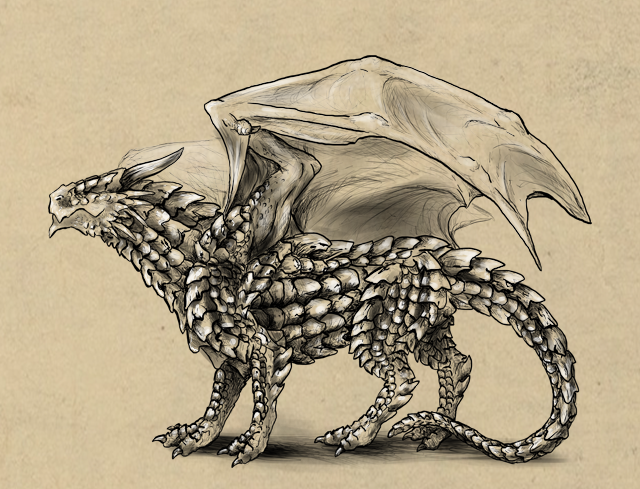 How to draw a dragon by LadyAway