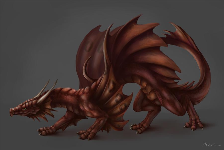 OMG a dragon! by MonikaZagrobelna