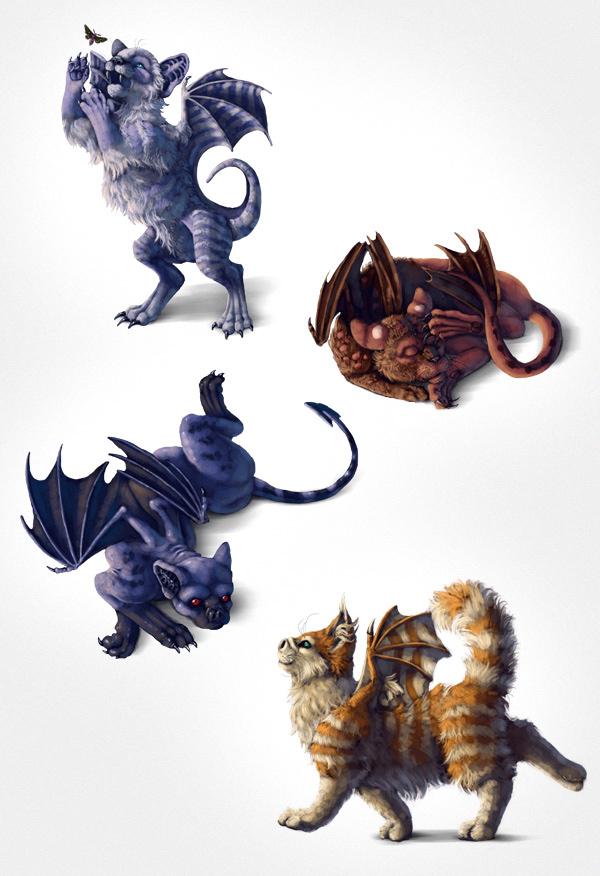 Halloween tutorial: paint a bat-cat by LadyAway