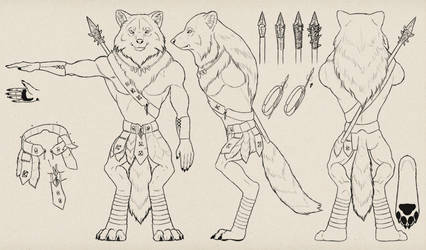 Design a Model Sheet of a Werewolf Warrior by MonikaZagrobelna